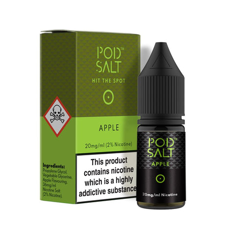 Apple 10ml Nicotine Salt E-Liquid by Pod Salt