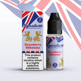 Strawberry Milkshake 10ml E-Liquid by Signature