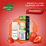 Strawberry 10ml E-Liquid by Amazonia (Pack of 10)
