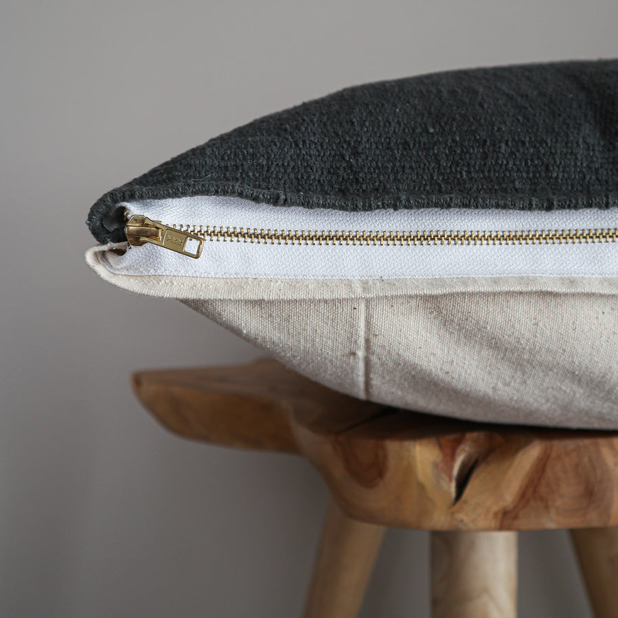 Cotton_Canvas_Euro_Cushion_Cover_Graphite_Side