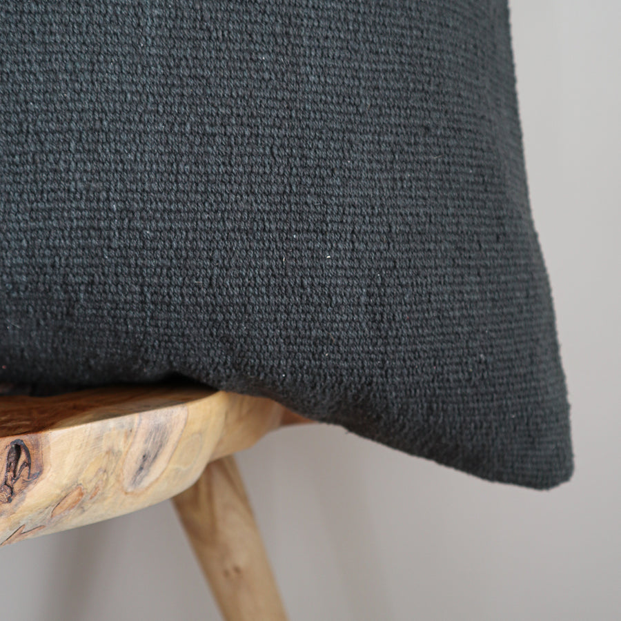 Cotton_Canvas_Euro_Cushion_Cover_Graphite_Zoom