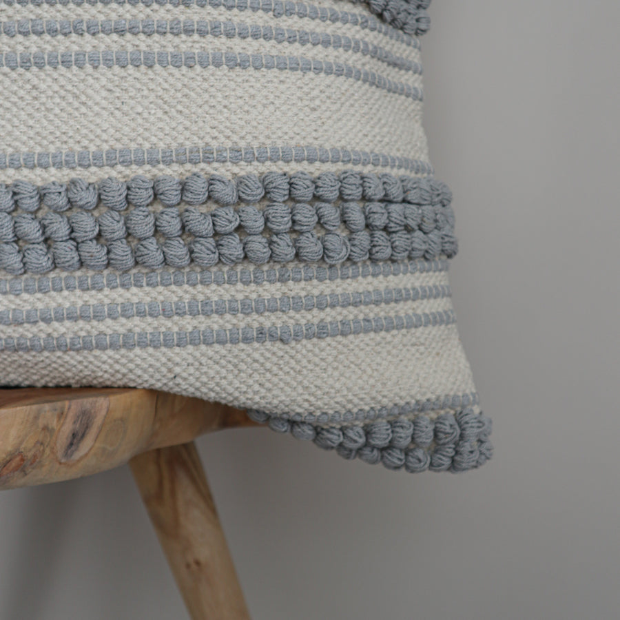 Cotton_Canvas_Euro_Cushion_Cover_Grey_Ripple_Zoom