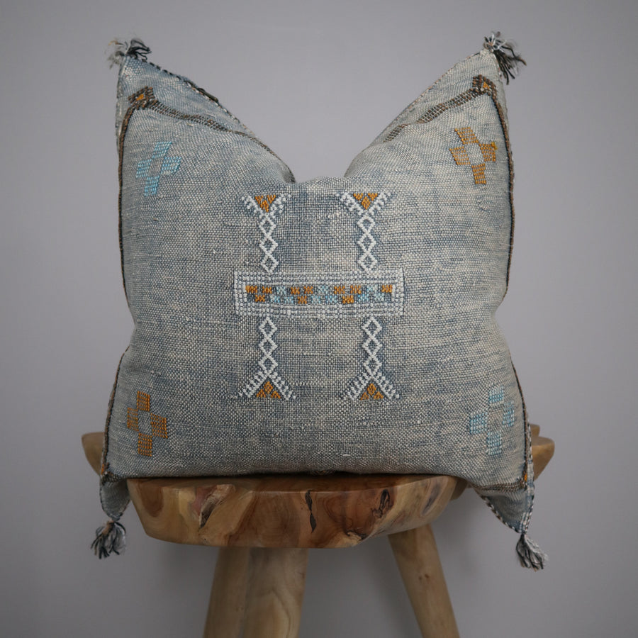 Sabra Silk Pillow Cover - Harbour Grey 6