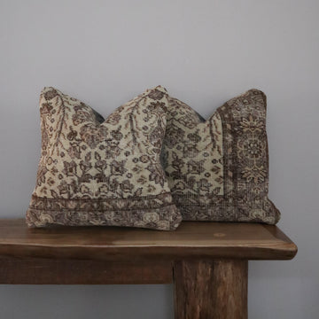 Turkish Rug Pillow Covers - Collection of 2 x 18