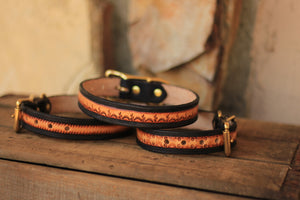 Leather Sunburts Dog Collar