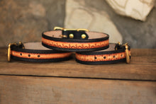 Load image into Gallery viewer, Leather Sunburts Dog Collar