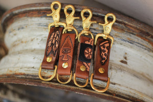 Graphic Leather Keychain