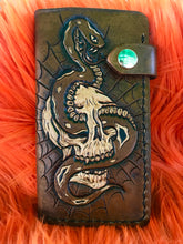 Load image into Gallery viewer, Snake & Skull Biker Wallet