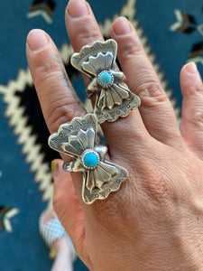 Sleeping Beauty Concho Ring