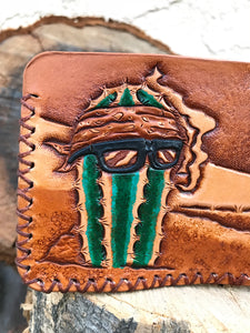 Cactus Vato Leather Billfold