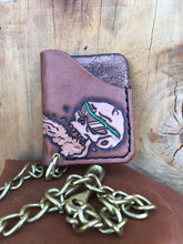 Load image into Gallery viewer, Leather Slim Card Chain Wallet