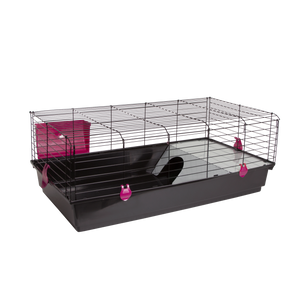 "536N1 (Rabbit Cage w/ Accessories-48x22x18"". Black.)"