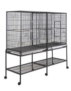 "16421bk (Double Flight cage 64""x21"". Black)"