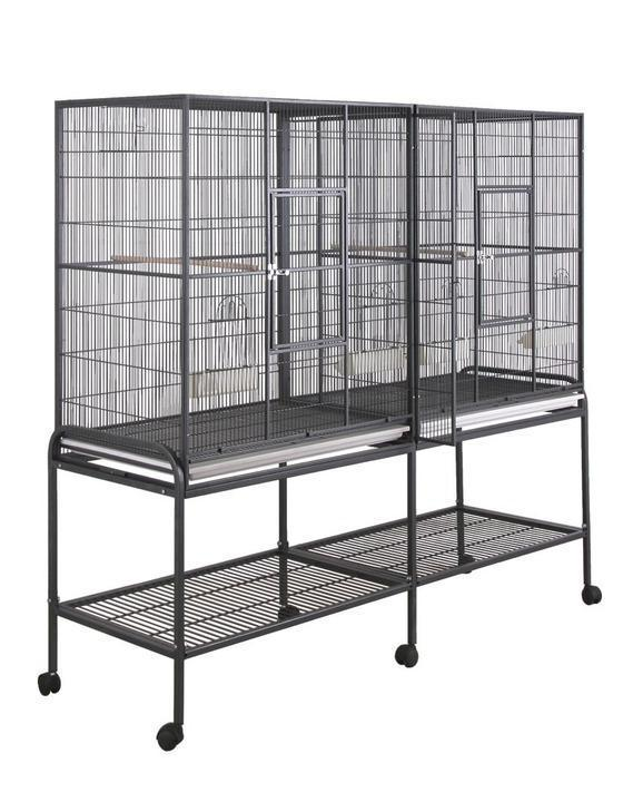 16421bk (Double Flight cage 64