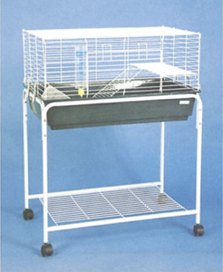 "2674 (Rabbit cage. 32x19x17""H. White. 3/case.)"