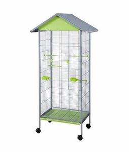 "440GP (Aviary w/ Removable Grate. 23x16x61""H. 51""-IH. 1/2"" BS. Gray/Pistachio.)"