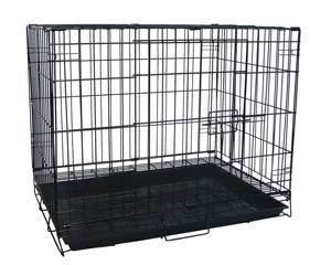 "9005bk (24x16.5x20.5"" Collapsible Dog Crate w/ Grill. Black.)"