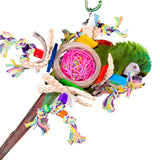 PB17011 (Bird Toy, Beak whick with wicker confetti & ball. 12 PER CASE)