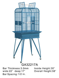 32217Awh (Dome cage w/ opening top 22 x 17 white)