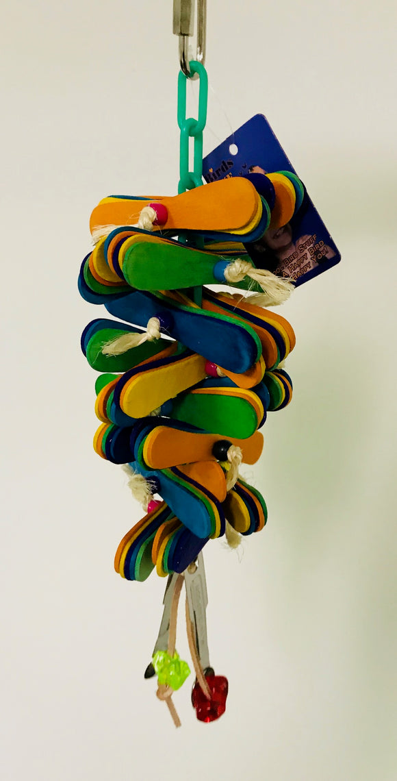 PB11095A (Bird Toy, Spoon Stack w/Bell.  Size: 10