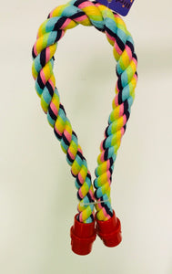 PB12002B (Bird Toy, Multi Color Cotton Rope Perch w/Plastic connectors.  Size: 0....