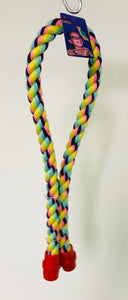 PB12002C (Bird Toy, Multi Color Cotton Rope Perch w/Plastic connectors.  Size: 0....