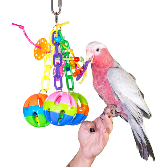 PB19225A (Bird Toy, Three Large Plastic Balls w/ Three Small Plastic Balls  Size:...