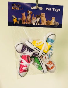 PB40009B (Bird Toy, 6 Sneakers in a Bag. 72 PER CASE)