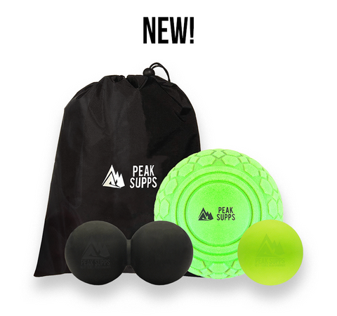 Massage Ball Set from Peak Supps (With Bag)