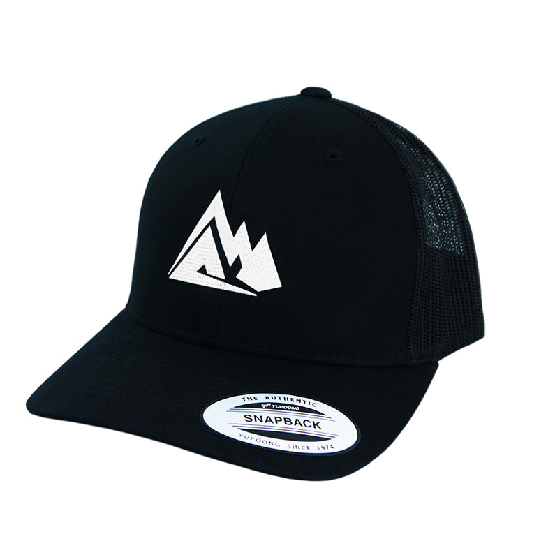 Peak Supps Black Trucker Cap