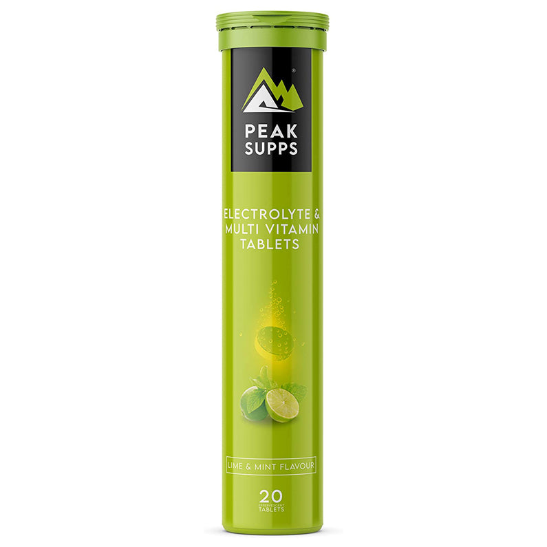 Peak Supps Electrolyte & Multi Vitamin Effervescent Tablets - Lime & Mint