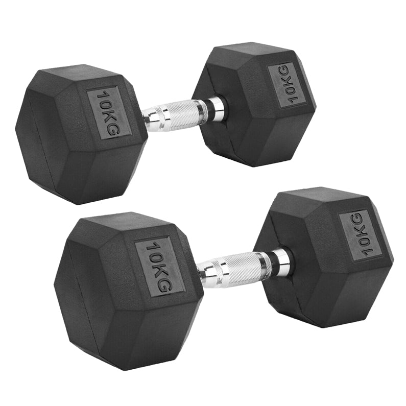 Peak Supps Hex Dumbbells - 10KG (Pair)