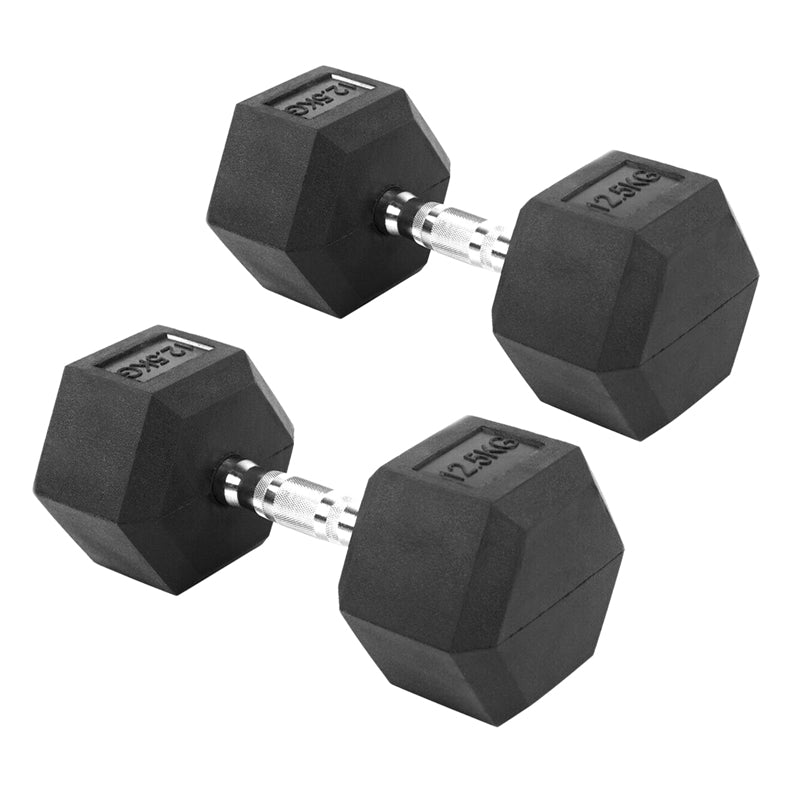 Peak Supps Hex Dumbbells - 12.5KG (Pair)