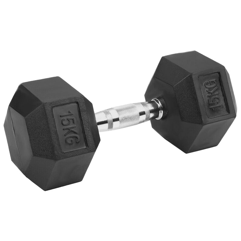 Peak Supps Hex Dumbbells - 15KG (Single)