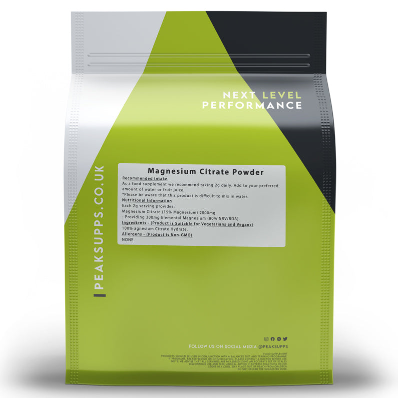 Peak Supps Magnesium Citrate Powder