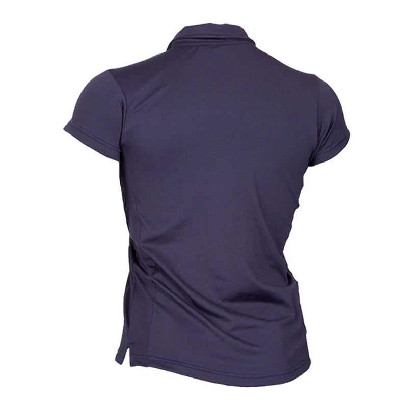 Skins Short Sleeve Polo Shirt - Womens - Navy