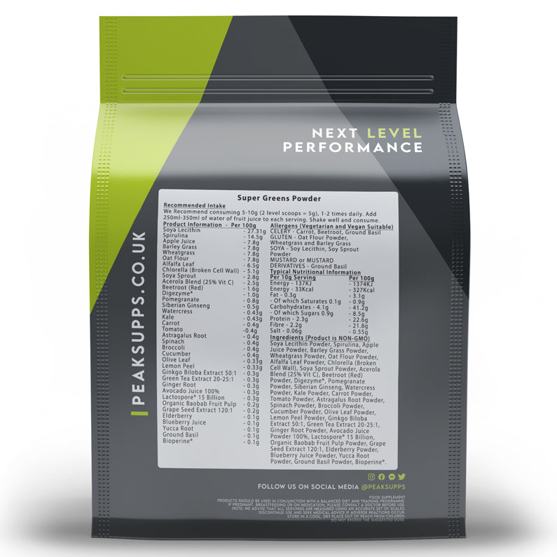 Peak Supps Super Greens Powder