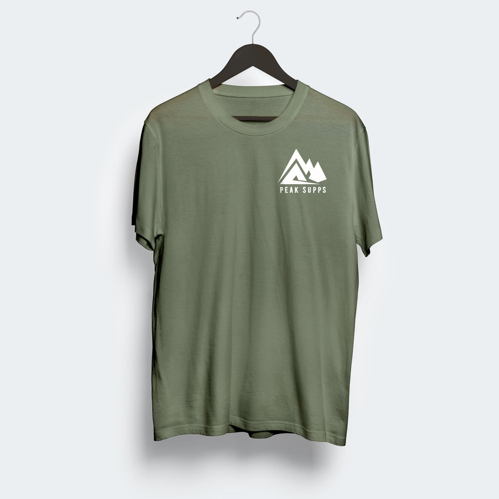 Green Khaki Basic Unisex T-shirt