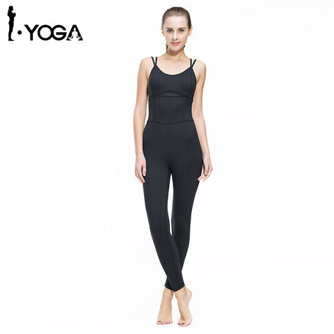 Fitness Women Yoga Jumpsuit Gym Running Sports Suit Lady Tight Clothing Breathable Quick Dry Sportswear Sets Patchwork Tracksuit