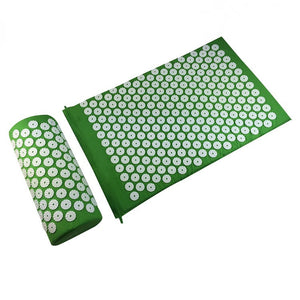 Massager (appro.67*42cm)Cushion Mat Shakti Massager Relieve Acupressure Mat Body Pain Acupuncture Spike Yoga Mat with Pillow