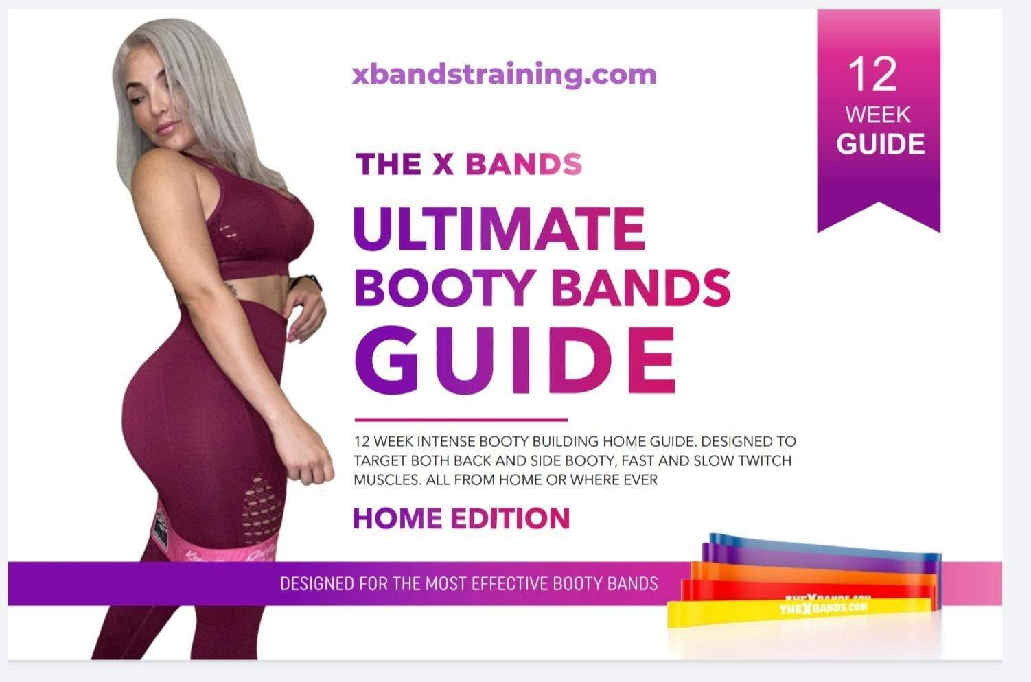 12 week Booty Building guide book - The X Bands