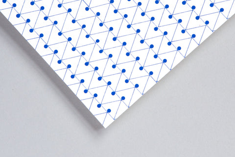 Ola Dash Print Layflat Notebook in Klein Blue