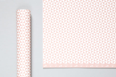 Ola Studio patterned papers - Kaffe print/clay pink