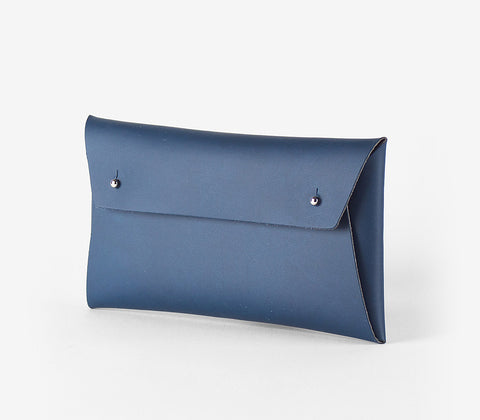 Walk With Me Regular Pouch in Navy - Recycled Leather