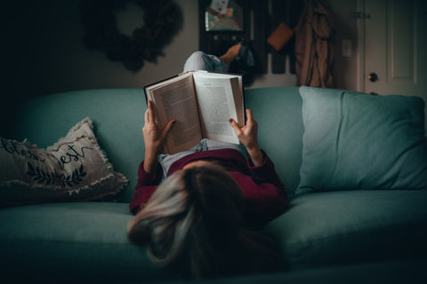 Slow living - reading a book