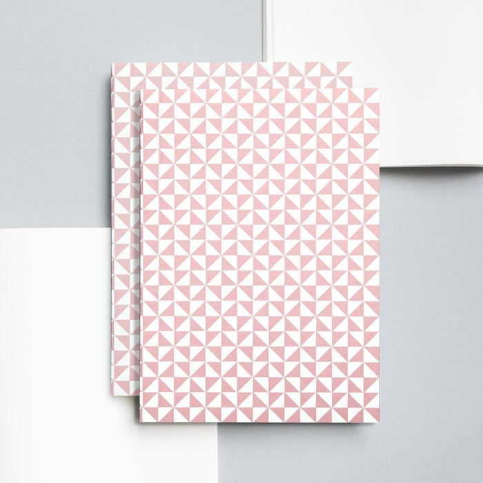 Ola Kaffe Print Layflat Notebook in Clay Pink