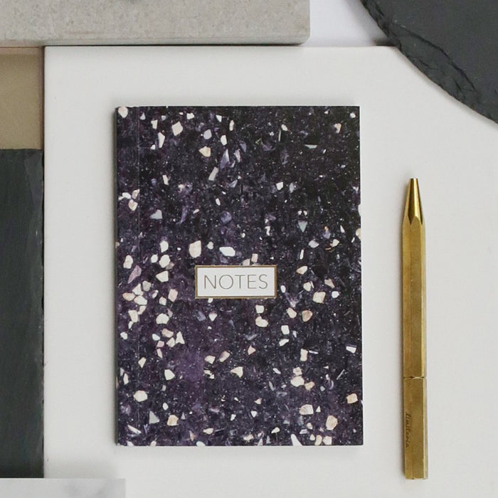 Form Maker Terrazzo Notebook in Black