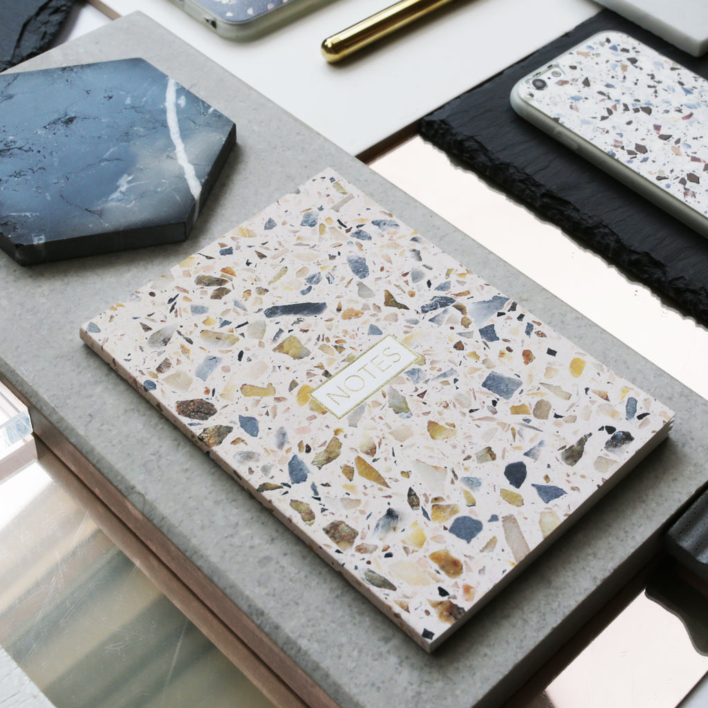 Form Maker Terrazzo Notebook in Blush