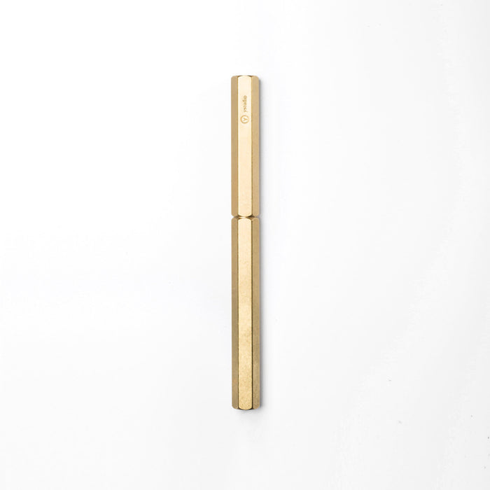 ystudio Rollerball Pen in Brass/Copper