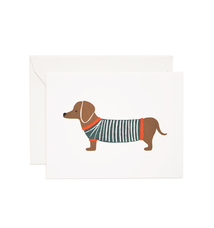 Rifle Paper Co. Daschund Card